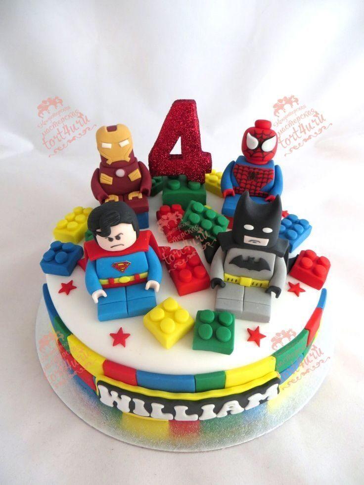 Lego cake designs