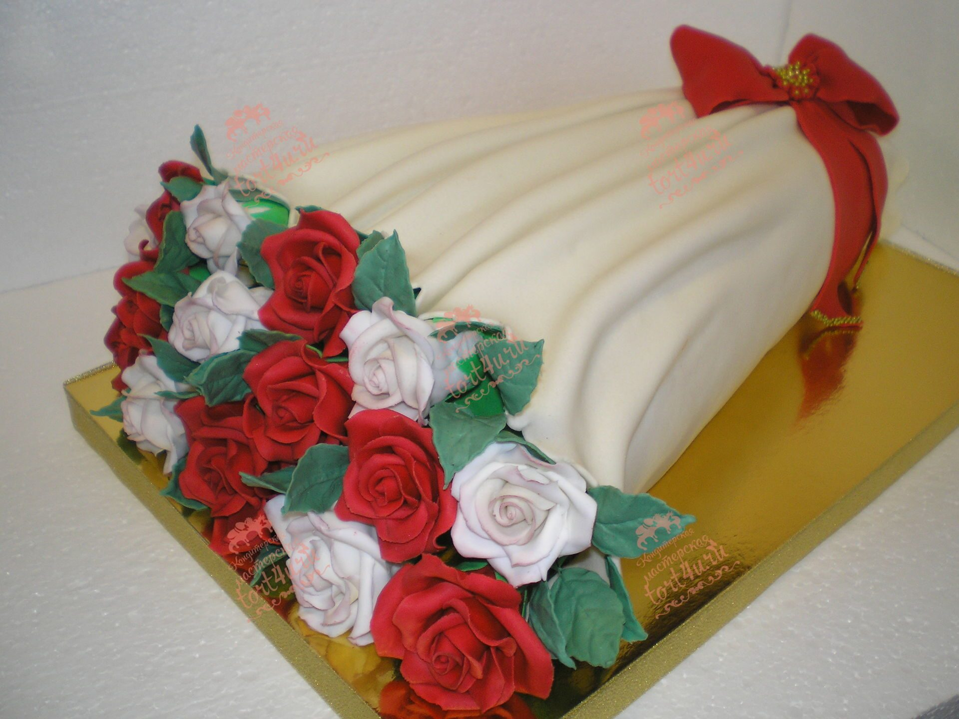 Торт букет цветов мастер класс фото