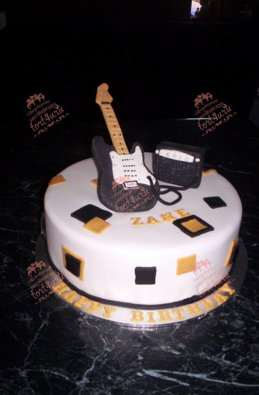 Торт гитара как его сделать 380