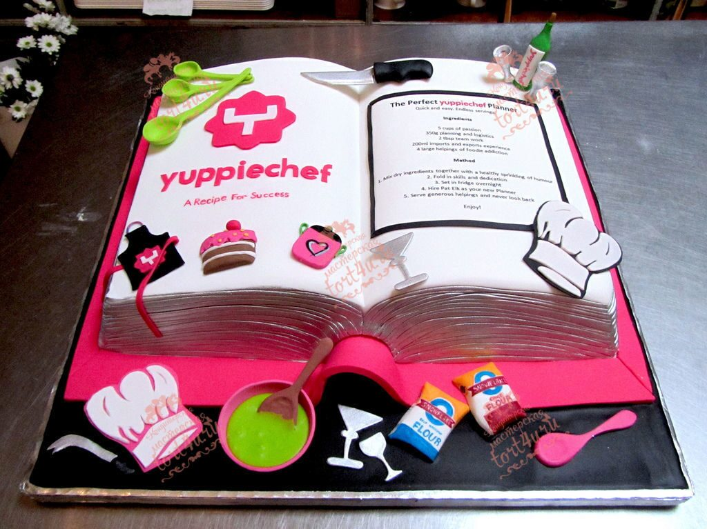 Торты в виде книгиы