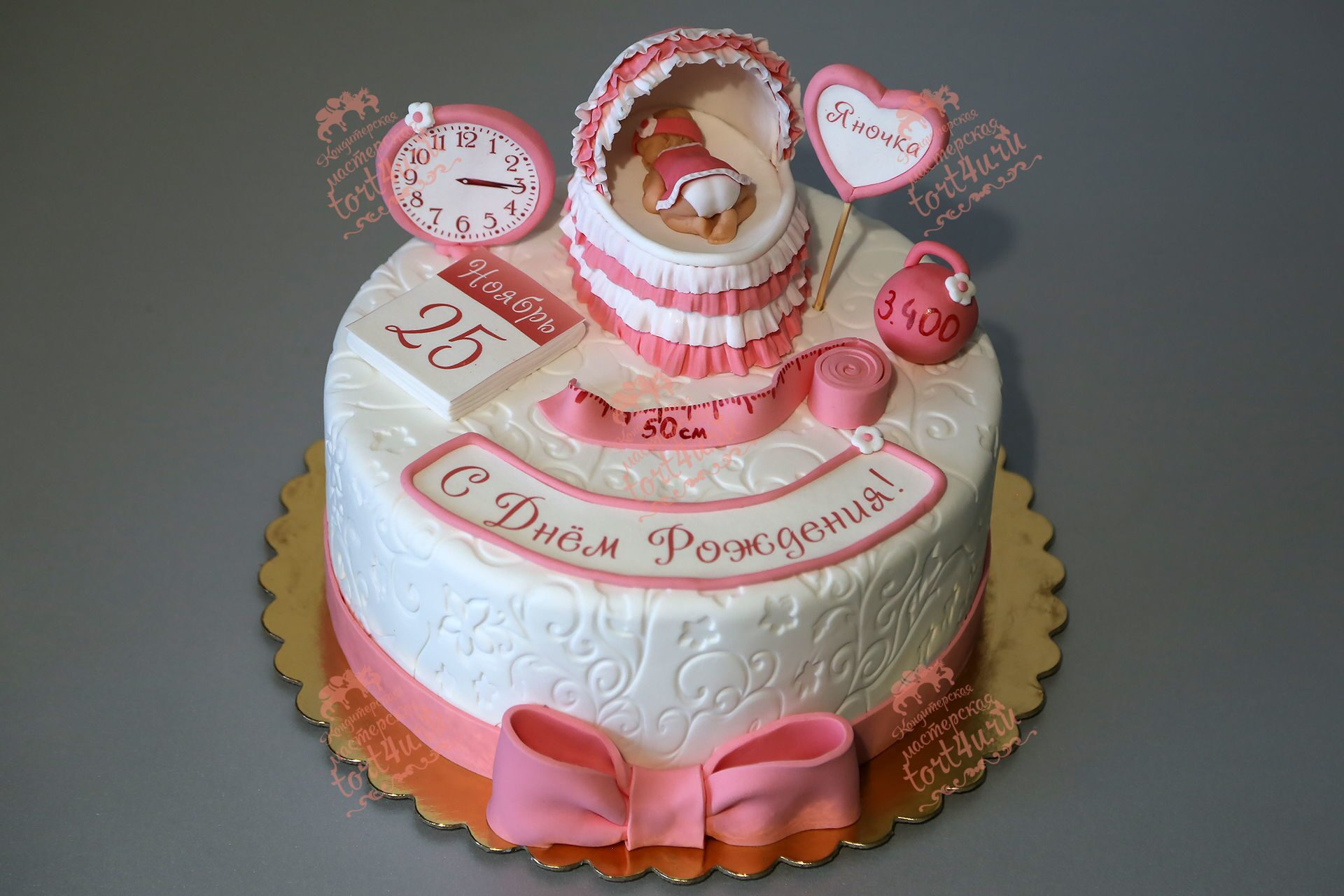 Торт для девочки на 1 год своими руками (бисквитный торт со) 86