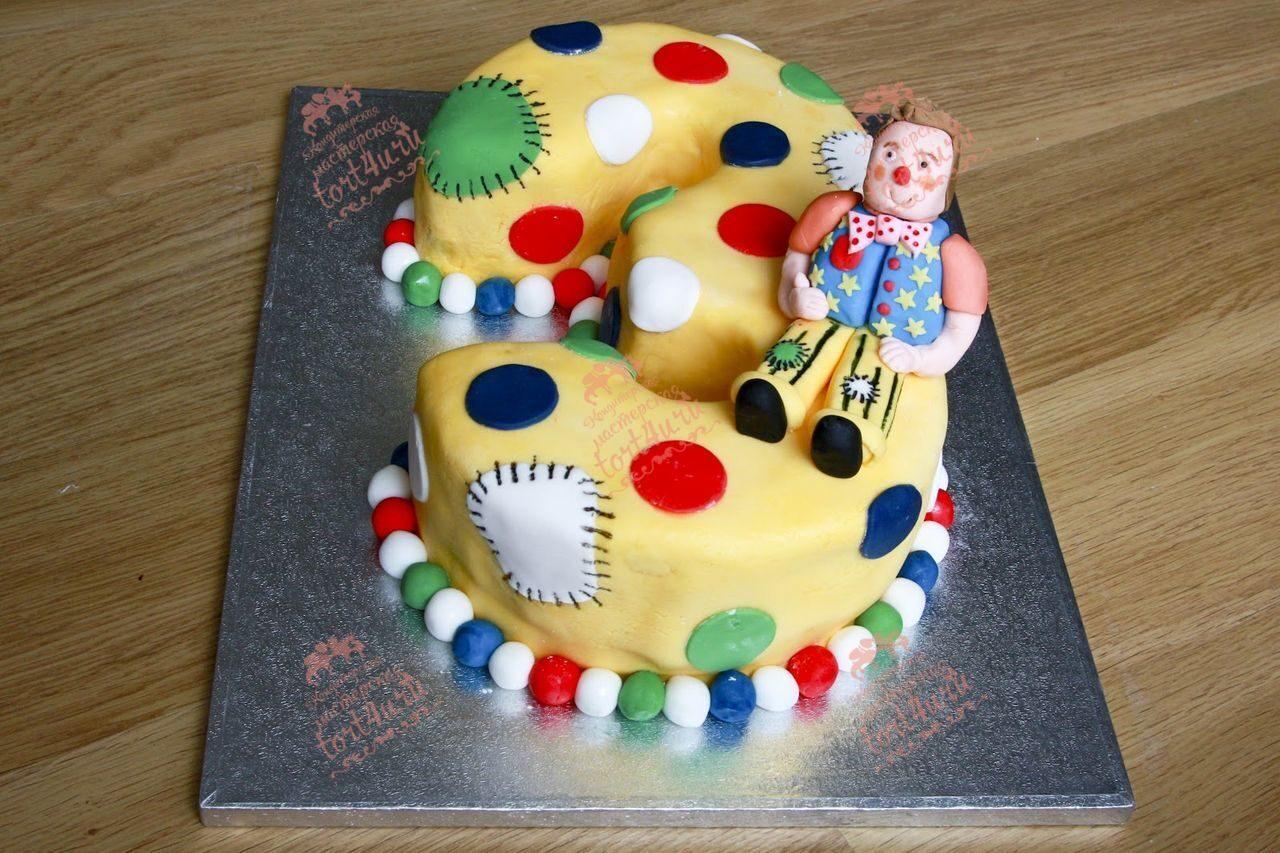 Как сделать торт в виде цифры 3