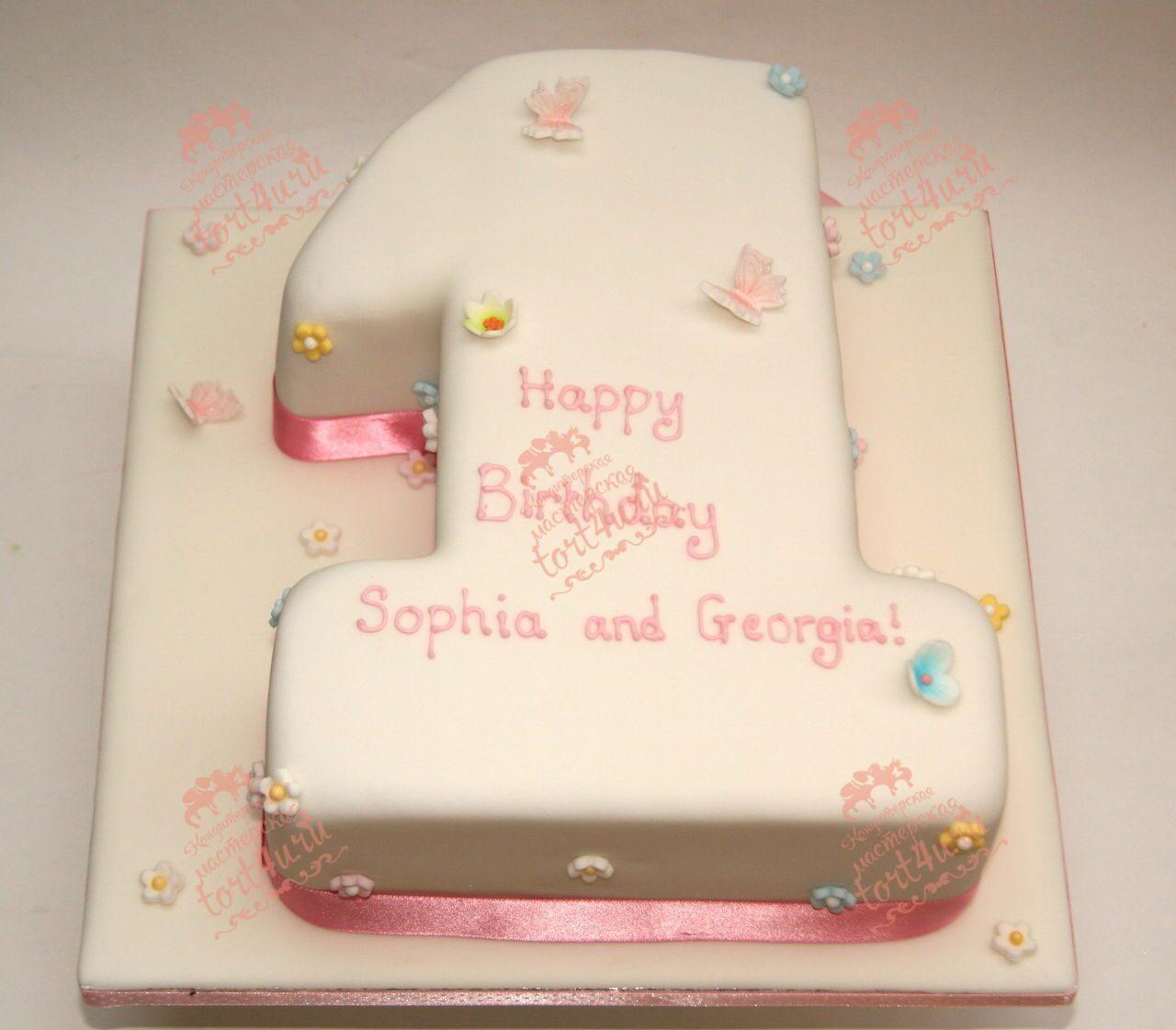 Торт в виде цифра 1