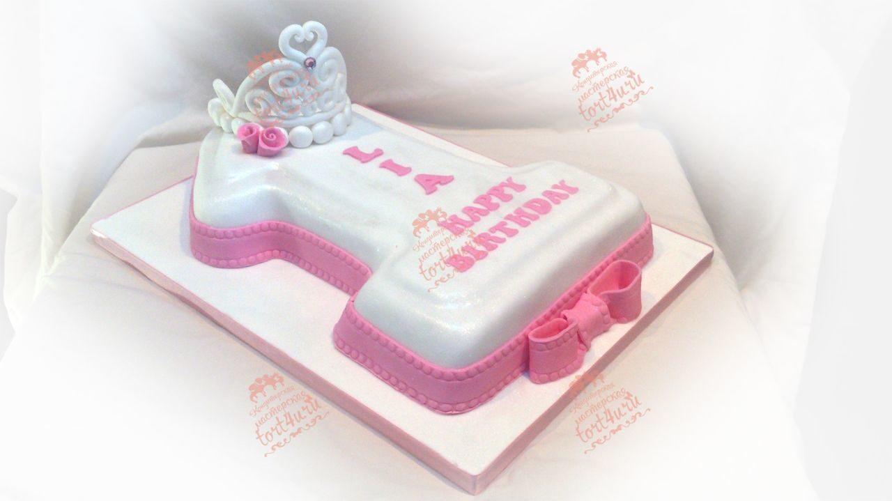 Торт для девочки на 1 год своими руками (бисквитный торт со) 37
