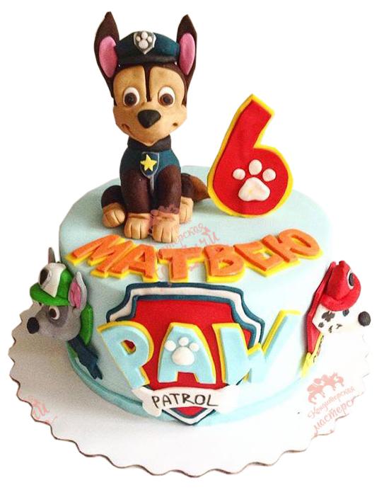 Торт с щенячьим патрулем своими руками