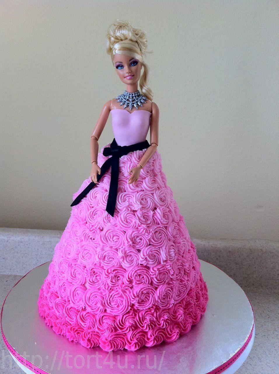 Торт для девочки кукла барби своими руками
