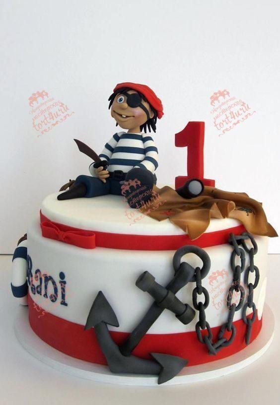 Торт в виде пирата