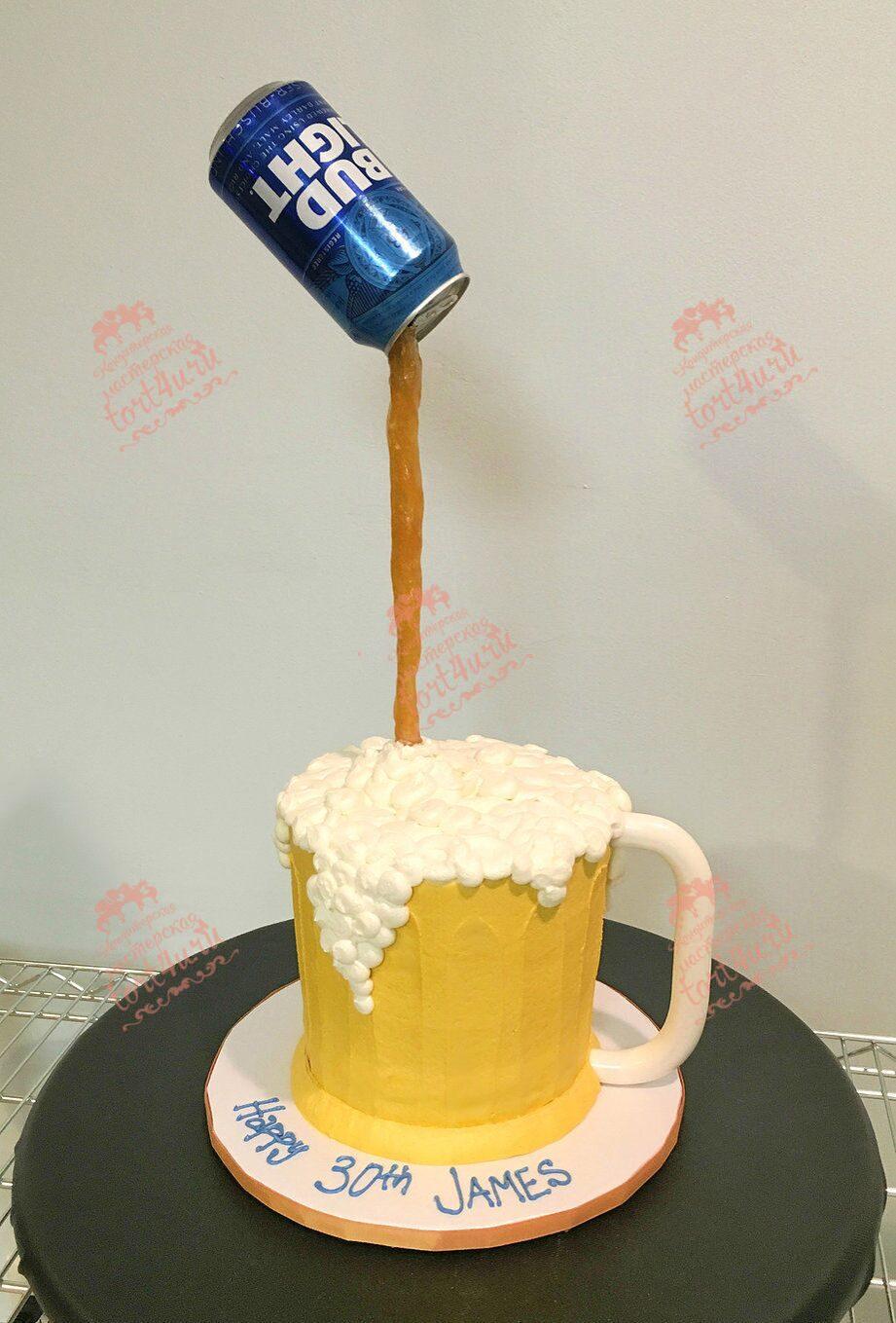 Торт для парня своими руками из пива
