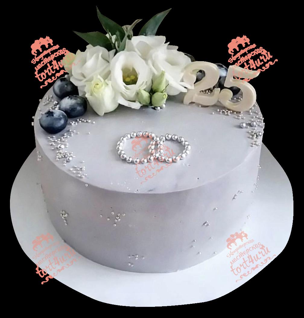 Фото торта на серебряную свадьбу