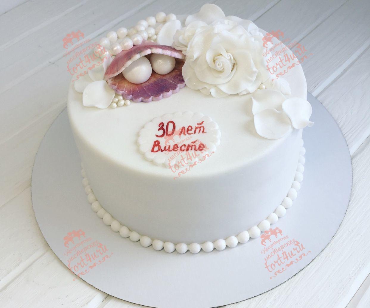 Фото торта на свадьбу 30 лет