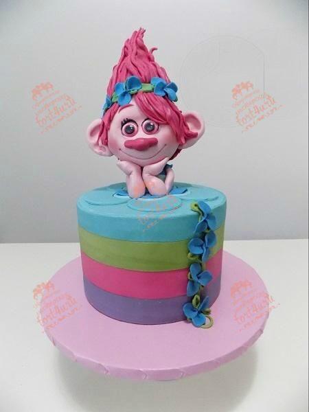 Торт тролли своими руками из мастики