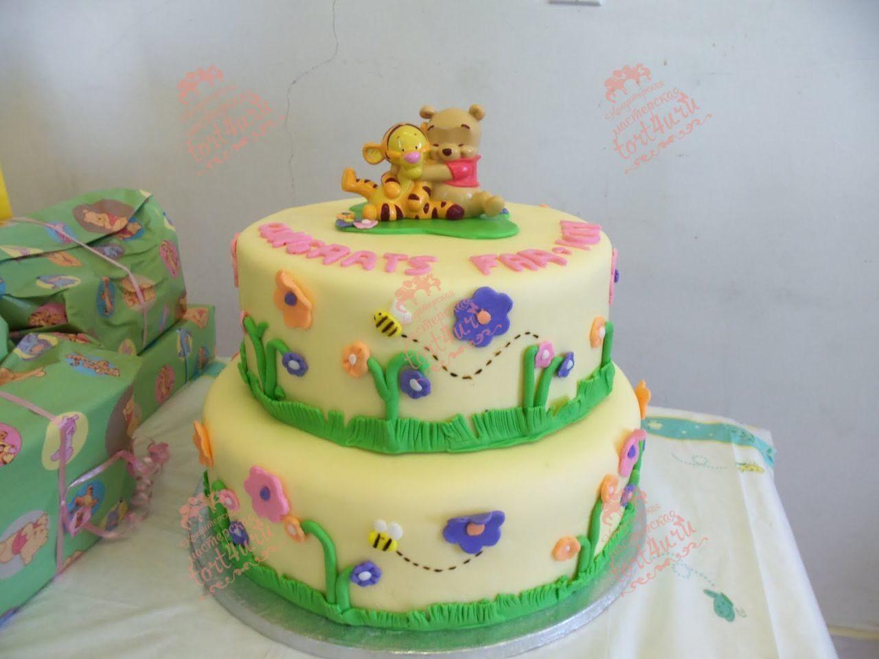 Торт на 2 года девочке своими руками из мастики фото