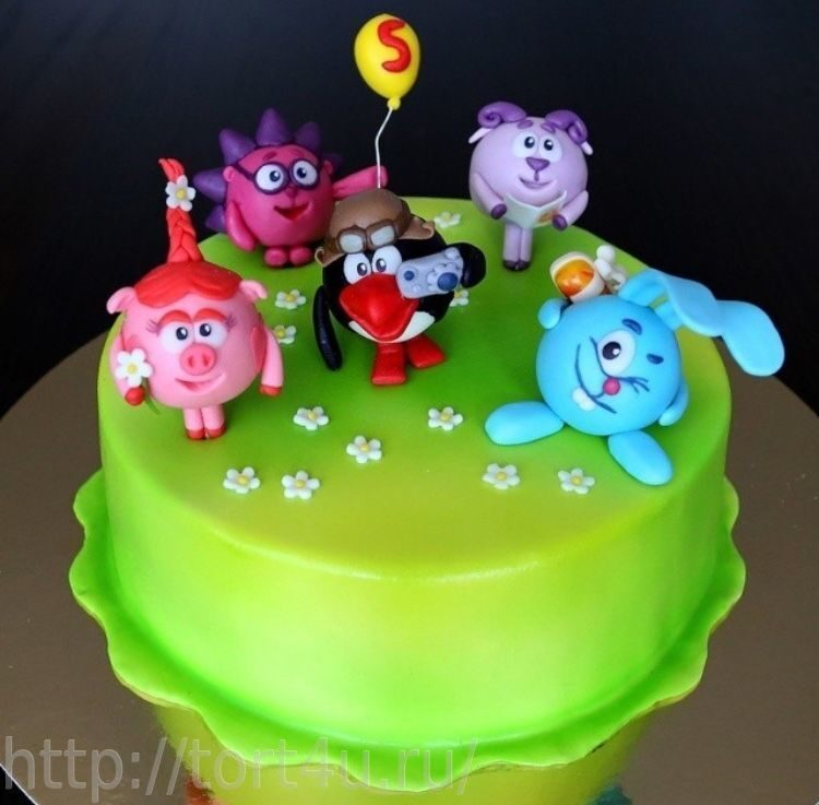 Торт своими руками смешарик