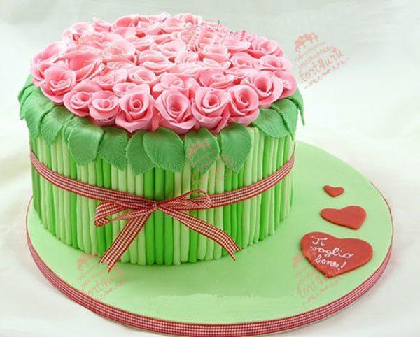 Фото торт в виде букета цветов