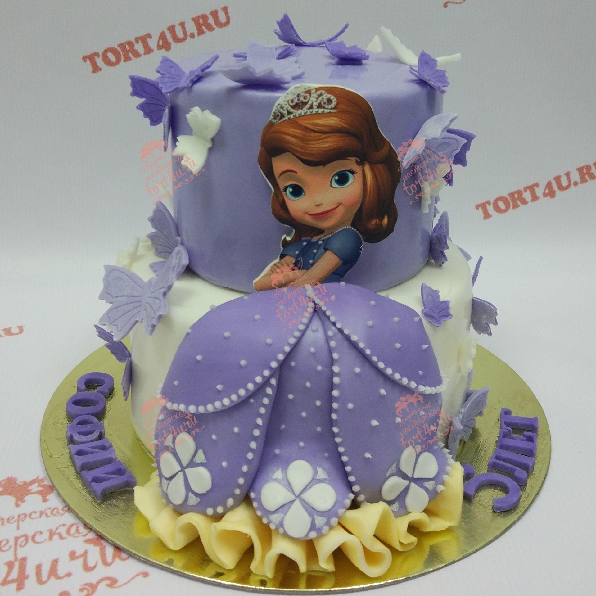торты принцесса софия фото