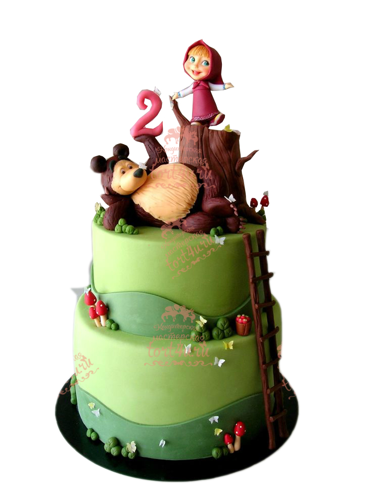 Детские торты краснодар фото маша и медведь