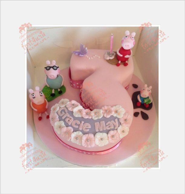 торт девочке 3 года фото