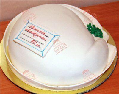 Фото торта в виде пельменя