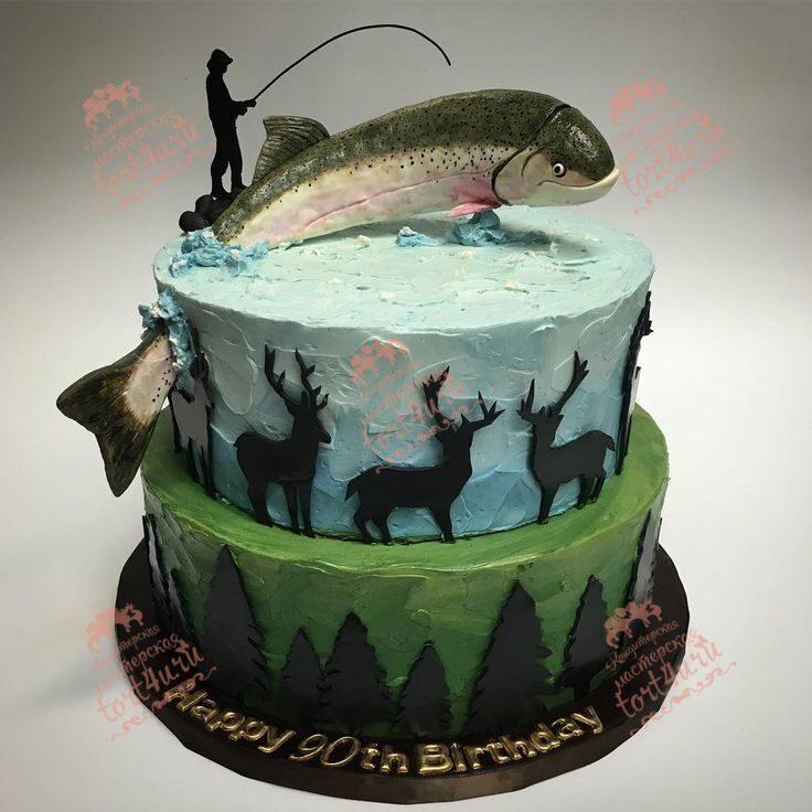 Торт рыбаку фото