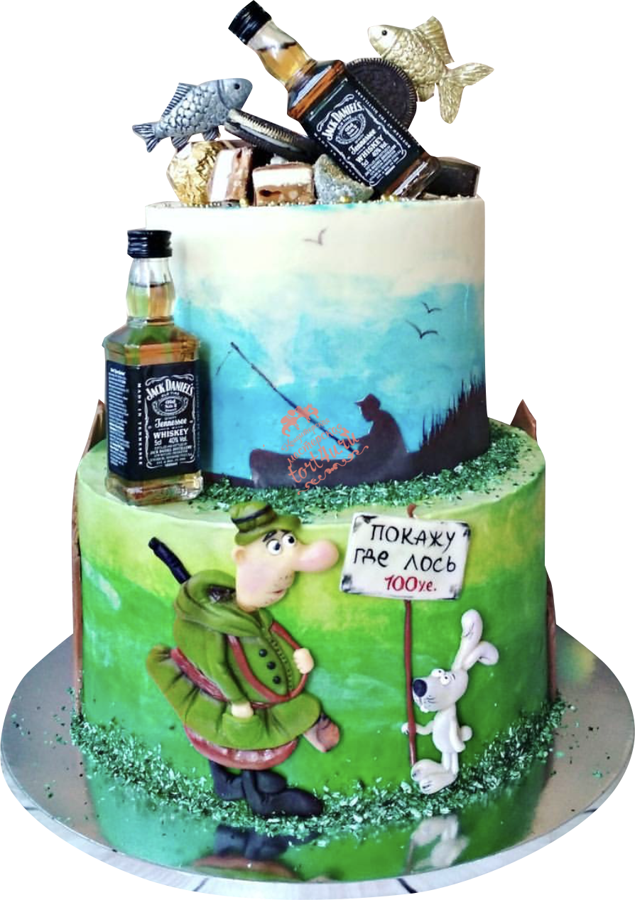 торт для охотника и рыбака фото крыса, которая