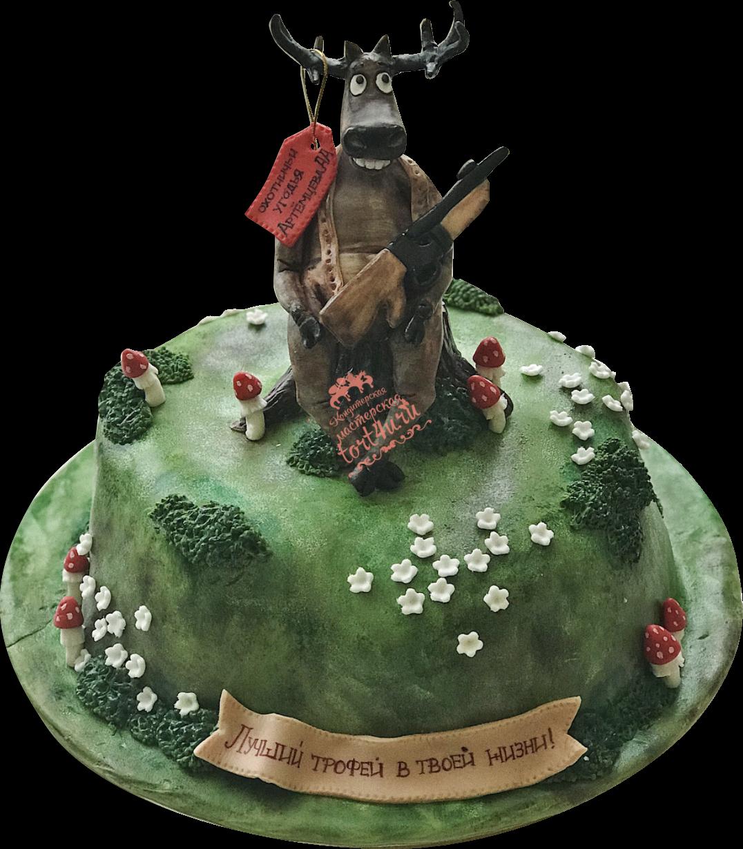 Какой торт для охотников фото