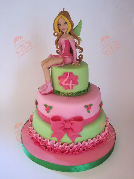 торт винкс из мастики фото